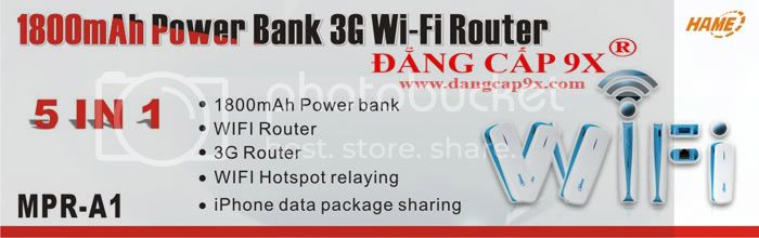 Thit b mng siu a nng 3G Mobile Power Router 5 in 1