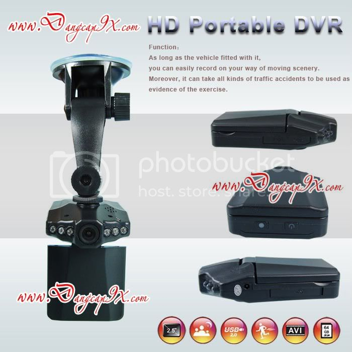 Camera hnh trnh - Hp en  t - HD Portable DVR